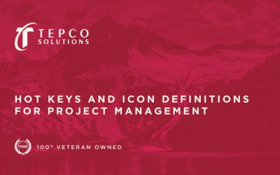 Hot Keys and Icon Definitions for Project Management