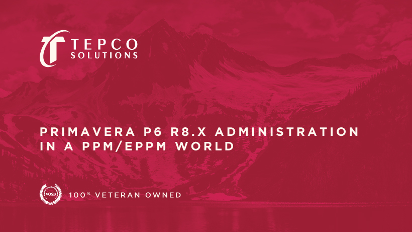 Primavera P6 R8.x Administration in a PPM/EPPM World