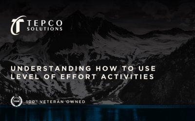 Understanding How to Use level of Effort Activities